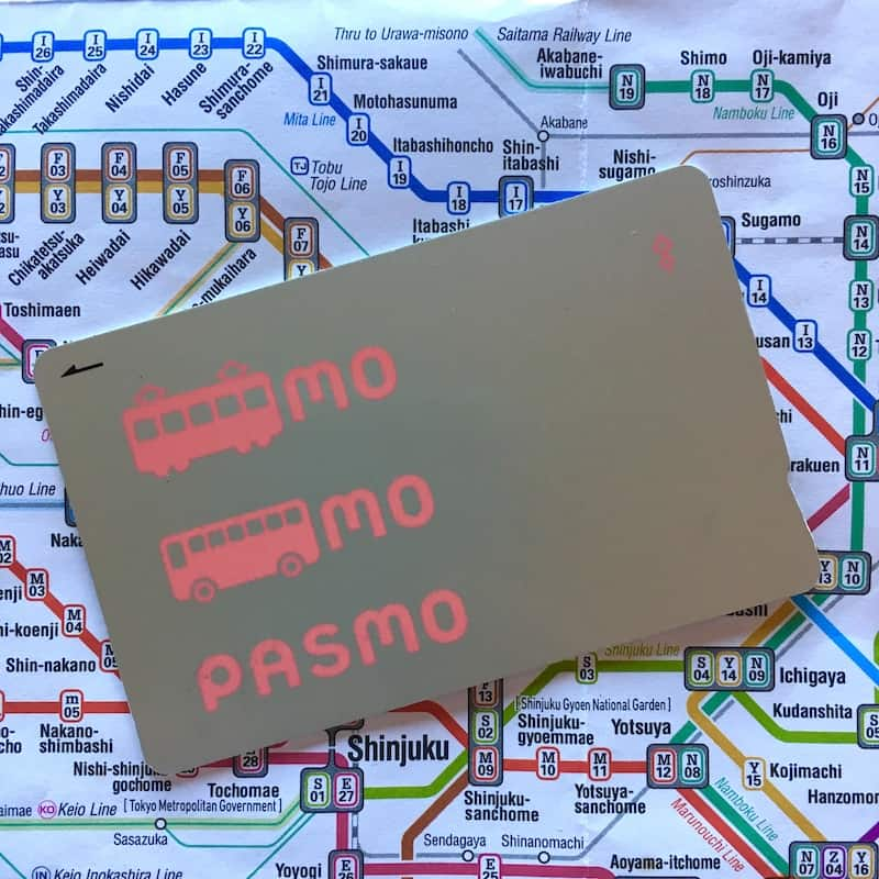 Pasmo Card. Japan Travel Checklist