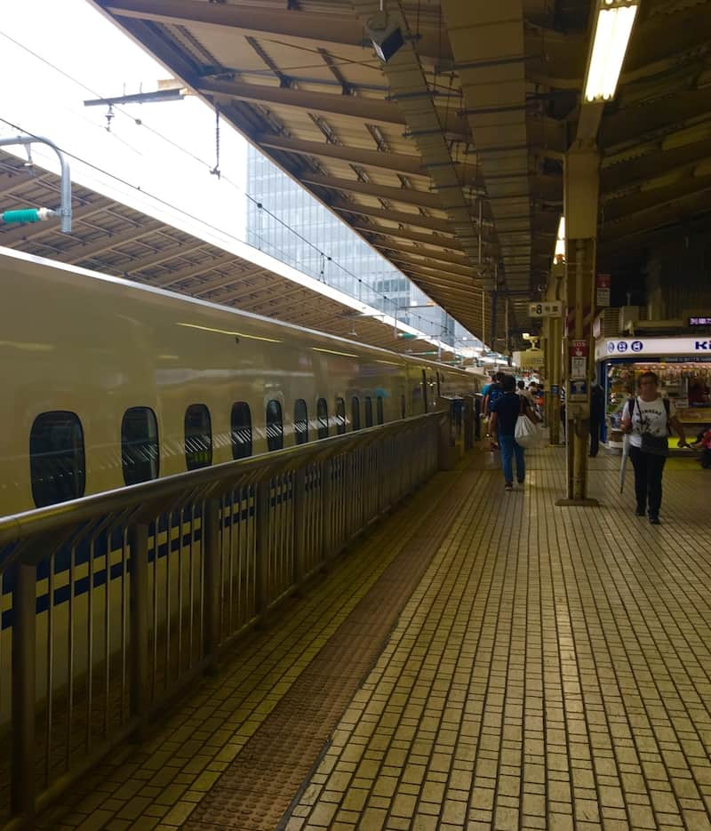 High Speed Train in Japan. Tokyo Travel Checklist.