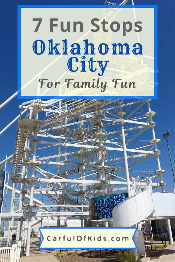 Giddy Up and Head to Oklahoma City for Family Fun. Here's 7 places to explore with kids to learn about the cowboy life or raft a raging man-made river. All steps from downtown OKC. #FamilyTravel #Oklahoma What to go in Oklahoma City with Kids | Best Places to visit in OKC