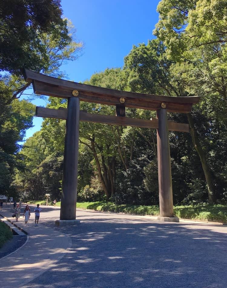 Meiji Jingu Shrine torii. 3 day Tokyo Itinerary