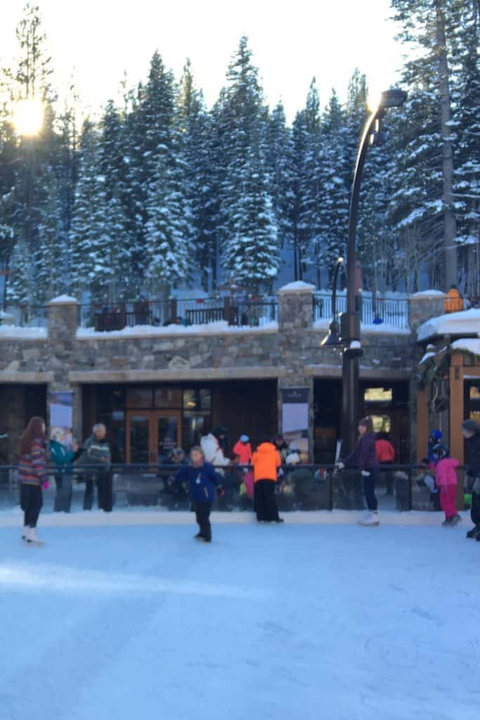 Northstar Calfornia Ice Rink. How to celebrate the holidays in Lake Tahoe
