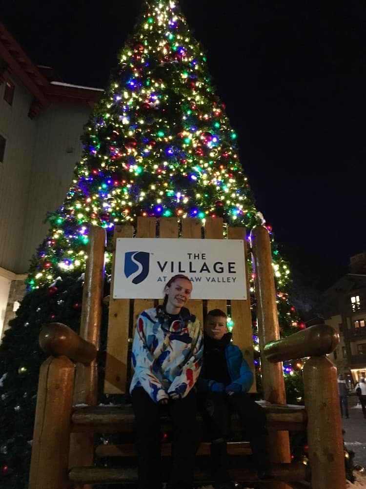 Squaw Valley Village Tree. How to celebrate the holidays in Lake Tahoe