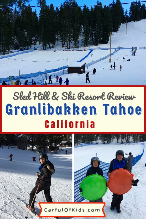 Granlibakken Tahoe Ski Resort offers a secluded location on the western shores of Lake Tahoe, minutes from Tahoe City, California. Find a fast sledding hill along with a couple of ski lifts. Perfect for families since kids can ski or sled while parents watch on. Find out all the family ski details along with its affordable prices. #LakeTahoe #FamilySki #Calfornia Where to sled near Lake Tahoe | Inexpensive ski resort at Lake Tahoe | Small Ski Resort at Lake Tahoe