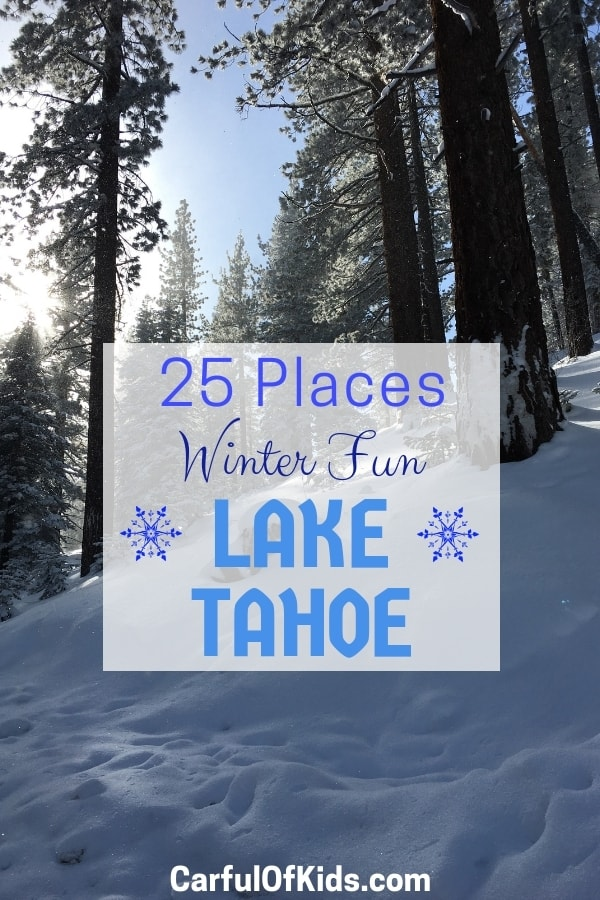 Lake Tahoe offers a winter wonderland with a dozen ski resorts, sledding, cross country skiing, sleigh rides, snow mobile tours, and shoeshoeing. Along with picturesque towns to explore with parks and shopping. Get all the details in this Ultimate Guide to Lake Tahoe in the Winter from a local. #LakeTahoe #Winter #Ski