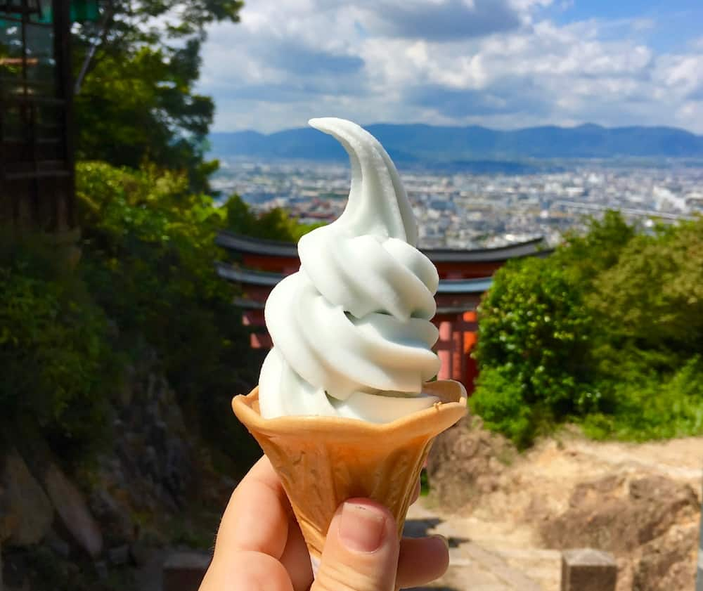 Ramune ice cream cone. Japanese snacks you must try.