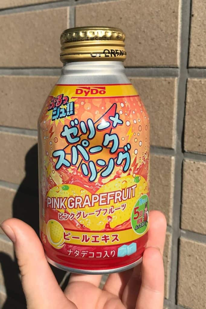 Grapefruit Drink. Japanese snacks you must try.
