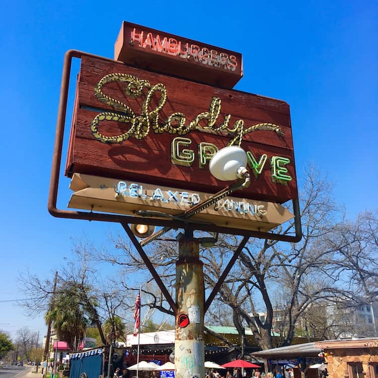 Shady Grove. 4 day itinerary for Austin Texas.