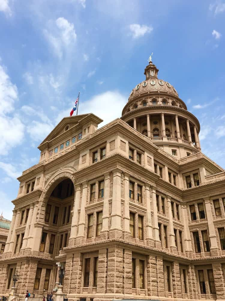 Texas State Capitol, 4 day itinerary for Austin Texas