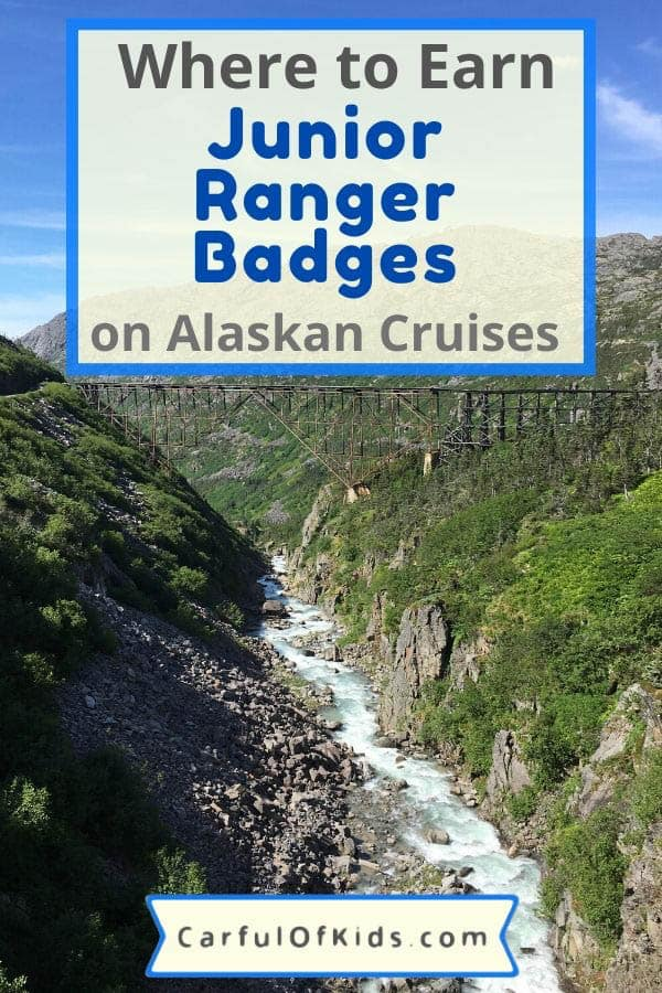 Kids can learn about about the animals, plants and people of Alaska at several National Park and National Forest sites across the panhandle of Alaska. As a bonus it's free for kids at NPS sites and earning a Junior Ranger badge is free. #NPS #Alaska Where to earn Junior Ranger Badges in Alaska | Free activities to do on an Alaskan Cruise