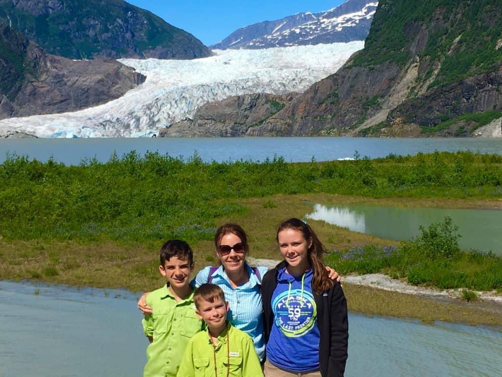 Mendenhall Glacier. Where to earn Junior Ranger on an Alaskan cruise.