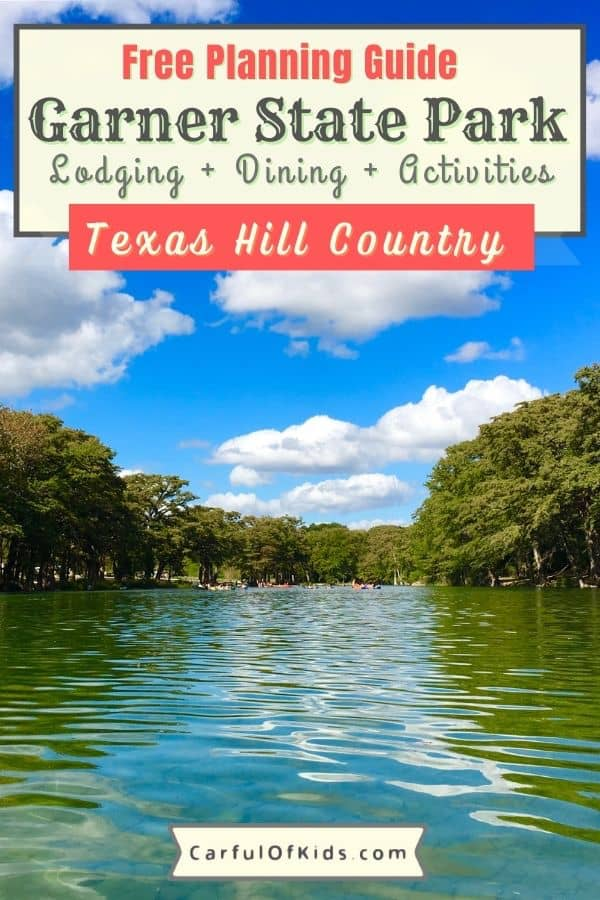 Located in the western edge of the Texas Hill Country, Garner State Park is an iconic state park and the most popular state park in Texas. During your stay, enjoy the cool water of the Frio River or a hike up Old Baldy. Got all the details for Garner State Park along with neighboring Concan, like where to eat and where to stay along with live music and outdoor activities. Plan a trip to see why it's been a favorite for generatons. Most Popular State Park in Texas | Best of Texas | Top River Floats in Texas | Texas Cabins | Where to go in the Texas Hill Country #GarnerStatePark #Texas
