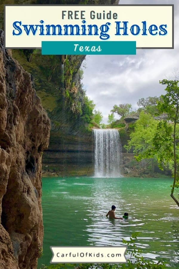 Sink into the cool natural spring water and find the best natural swimming holes and pools in Texas. Here's 13 of the top natural pools, man-made pools with natural waters, along with state park pools and private pools in Texas. Get all the details on reservations for the more popular pools. Best Texas Swimming Holes | Natural Pools in Texas Hill Country #NaturalPools #Texas