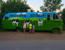 Ben and Jerry's Ice Cream. What to do with kids in Waterbury Vermont