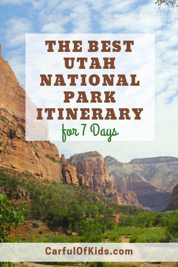 Got a week? Then you can take a Utah Road Trip to see the Mighty Five. Explore southern Utah and see the majestic landscape, including Arches, Bryce and Zion national parks. Get all the details, including lodging, in this 7 day itinerary out of Las Vegas. #Utah #nationalpark