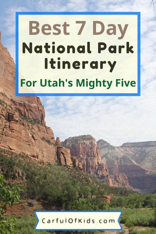 You can see five major National Parks in seven days. Starting in Las Vegas, drive through some spectucular scenery starting with Zion and finishing up with Arches National Park. Got all the details in this planning post. #NPS #NatonalParks Best 7 Day Itinerary for Utah | How to see Utah's National Parks in a Week