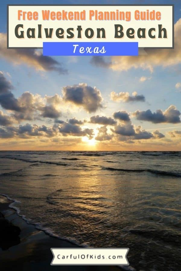 Galveston Island, south of Houston, Texas, offers miles of beach to spread out, a historic district, museums and attractions plus lots of seafood to sample. Here's a weekend itinerary, including lodging and dining recommendations to help plan your getaway. What to do in Galveston | Places to see in Galveston | Texas Beaches #Texas #Galveston