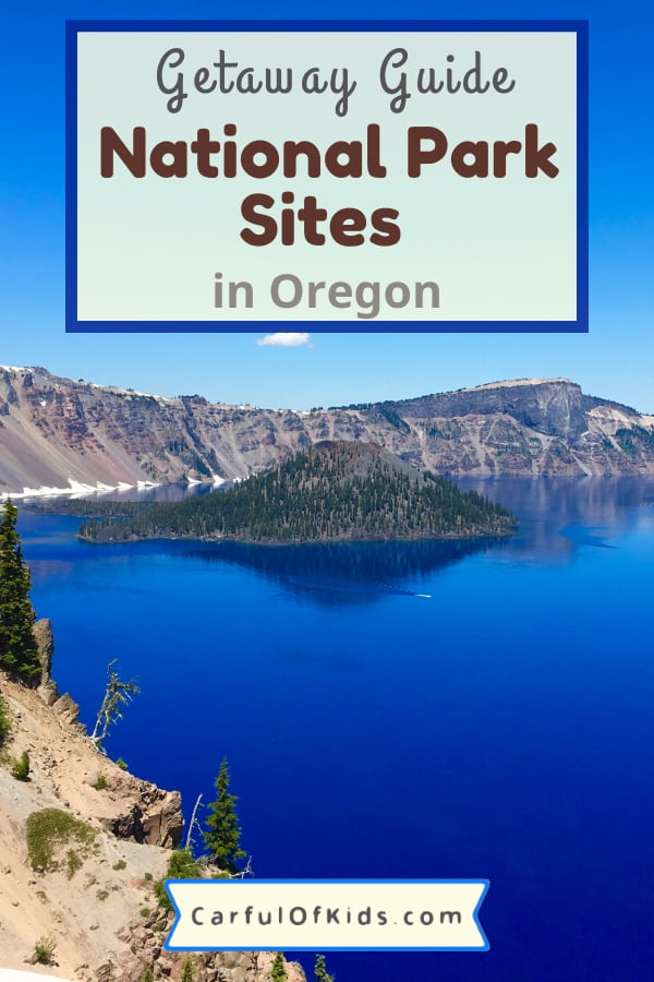 Oregon offers lots of outdoor places to explore. And some of the best are National Park Service sites. From Crater Lake, Multnomah Falls and Mt Hood along with volcanoes and fossils, find unique landscapes to explore during your getaway. #NPS #NationalParks #Oregon National Parks in Oregon | Crater Lake | Lewis and Clark | Newberry Volcano | Timberline Lodge | Mt Hood | Columbia River Gorge