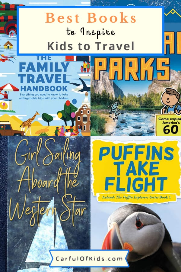 Books can transport readers to new locations. So here's the best books to inspire kids to travel with books about animals, national parks and more. #TravelBooks #BookLists Best Books for kids | Travel Books for kids | Summer Reading for kids