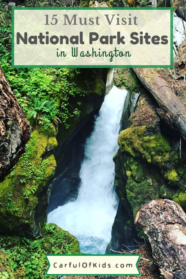 Washington offers 15 National Park Service Sites to explore on your next getaway. Find temperate rainforests, evergreen forests along with historical sites and volcanic sites. Many of the NPS sites are close to Seattle too. #NPS #NationalParks #WashingtonState What are the National Park sites in Washington | National Parks close to Seattle