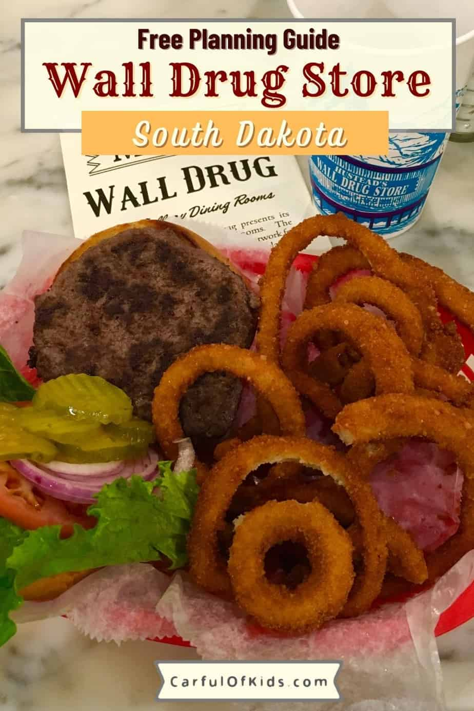 Wall Drug Store along Interstate 90 in South Dakota sells everything a traveler forgot at home along with a cafe packed with burgers, donuts and more. Where's Wall Drug Store   What to do in South Dakota   Where to eat in the Black Hills   Where to eat near Badlands #SouthDakota #WallDrug #BlackHills