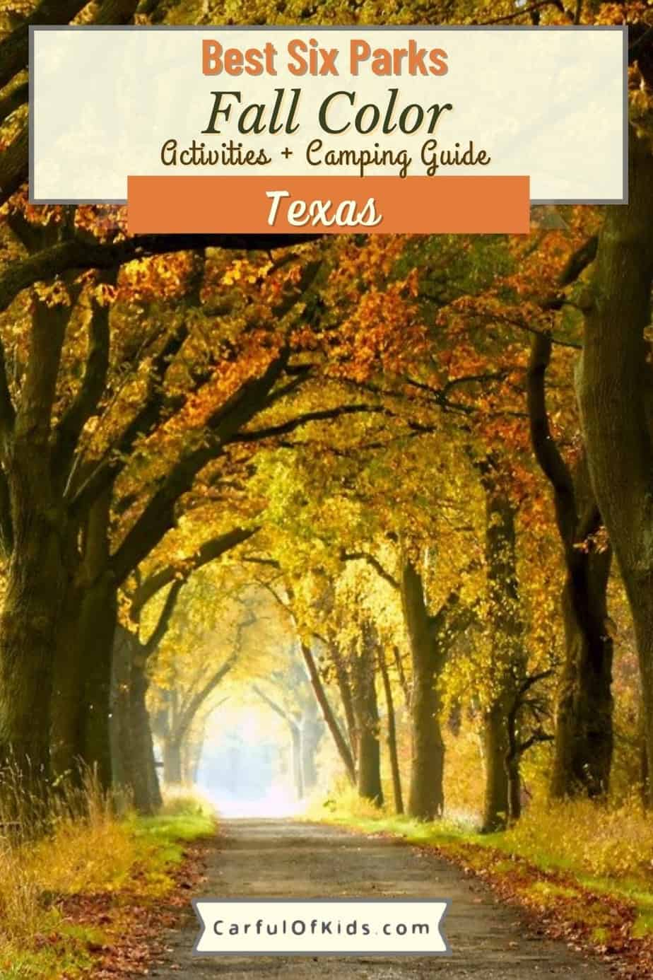 Fall is not lost in Texas. Find maples, sweetgums and cypress in Texas Parks from state natural areas to national parks. See the yellows, oranges and reds from mid October to late November. As a bonus many of the parks offer camping. Plan your Fall Color Trip in Texas with this handy guide. Best parks in Texas for fall color   When do the trees change in Texas #Texas #fallcolor