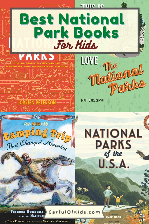 Get the kids some books. Here's a list of books about the National Parks just for kids. Kids can learn about the plants and animals of the National Parks along with the people who shaped the NPS. #NPS #Books Best National Park Books for kids | Nonfiction books for kids