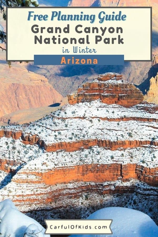 Visit an American icon at the Grand Canyon in Northern Arizona. Explore the National Park and experience the desert southwest possibly covered in a blanket of snow. Get a lot of things to do at the Grand Canyon in winter. Find lodging at the Grand Canyon's South Rim along with limited camping. Find where to eat at the Grand Canyon. #NationalParks #GrandCanyon