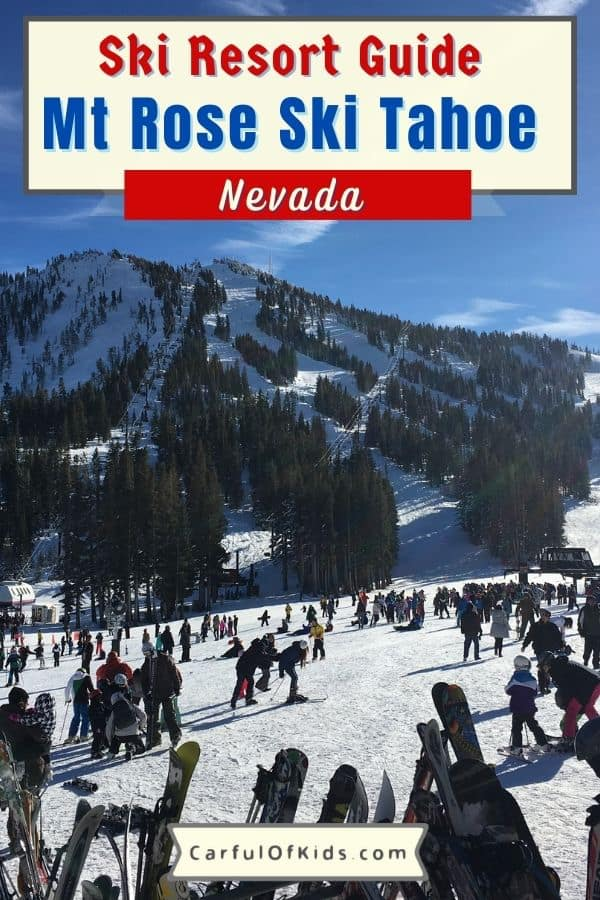 Mt. Rose Ski Tahoe offers lots of green trails for family skiers and snowboarders. Get the details on this Lake Tahoe resort on Nevada side. Get the details for family skiers like green runs and kids lessons. Mt Rose Ski Tahoe Resort Review | Best Ski Resorts for Lake Tahoe #FamilySki #LakeTahoe