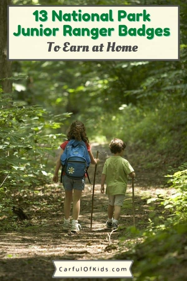 Grab a pencil and download a booklet to earn Junior Ranger Badges from home. Great activity for in-between park trips. #NPS #juniorranger
