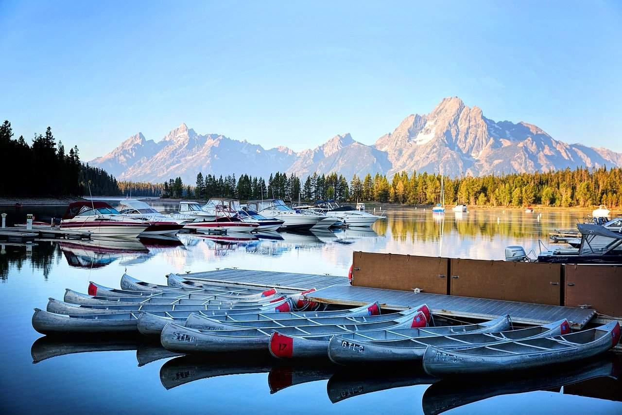 Boating in Grand Teton