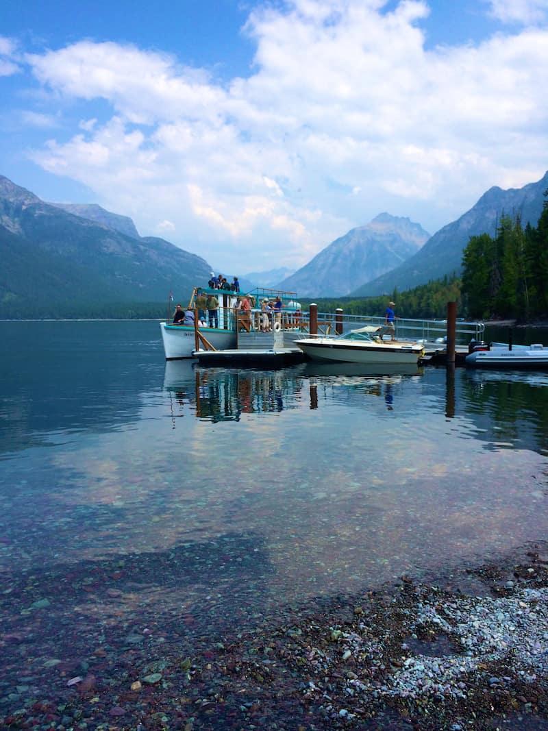 Boats in Glacier National Park