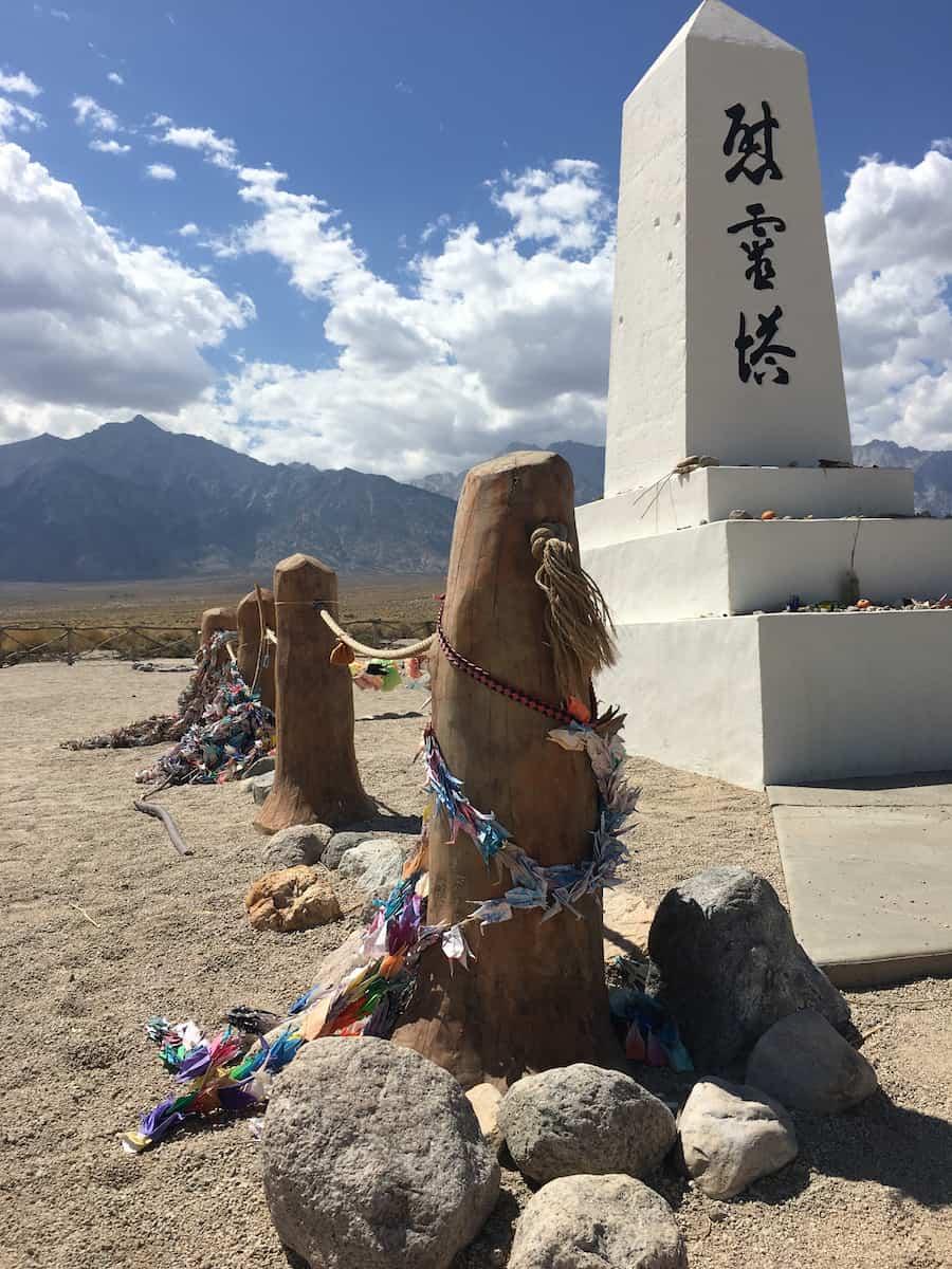 Manzanar National Historic Site near Death Valley