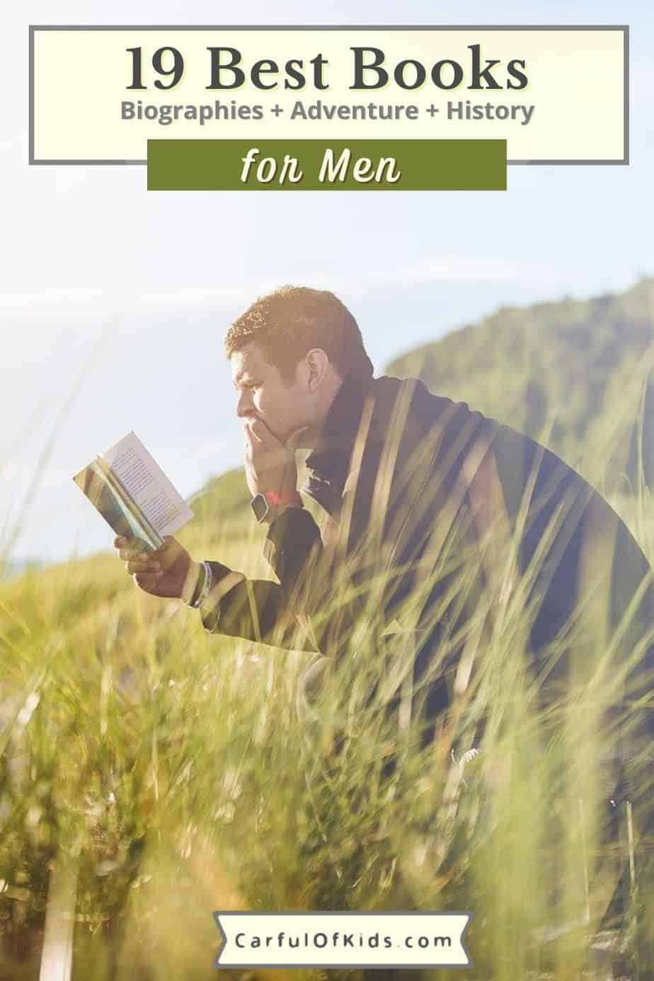The best books for the men in your life in a shoppable list. Find books about adventure, both foreign and domestic. Grab a biography about a notable president or businessmen. Also find books about the National Parks from building cabins to the gruesome side of the parks. Books for men | Best Books for Dads | Summer Reading for Men #BooksforMen