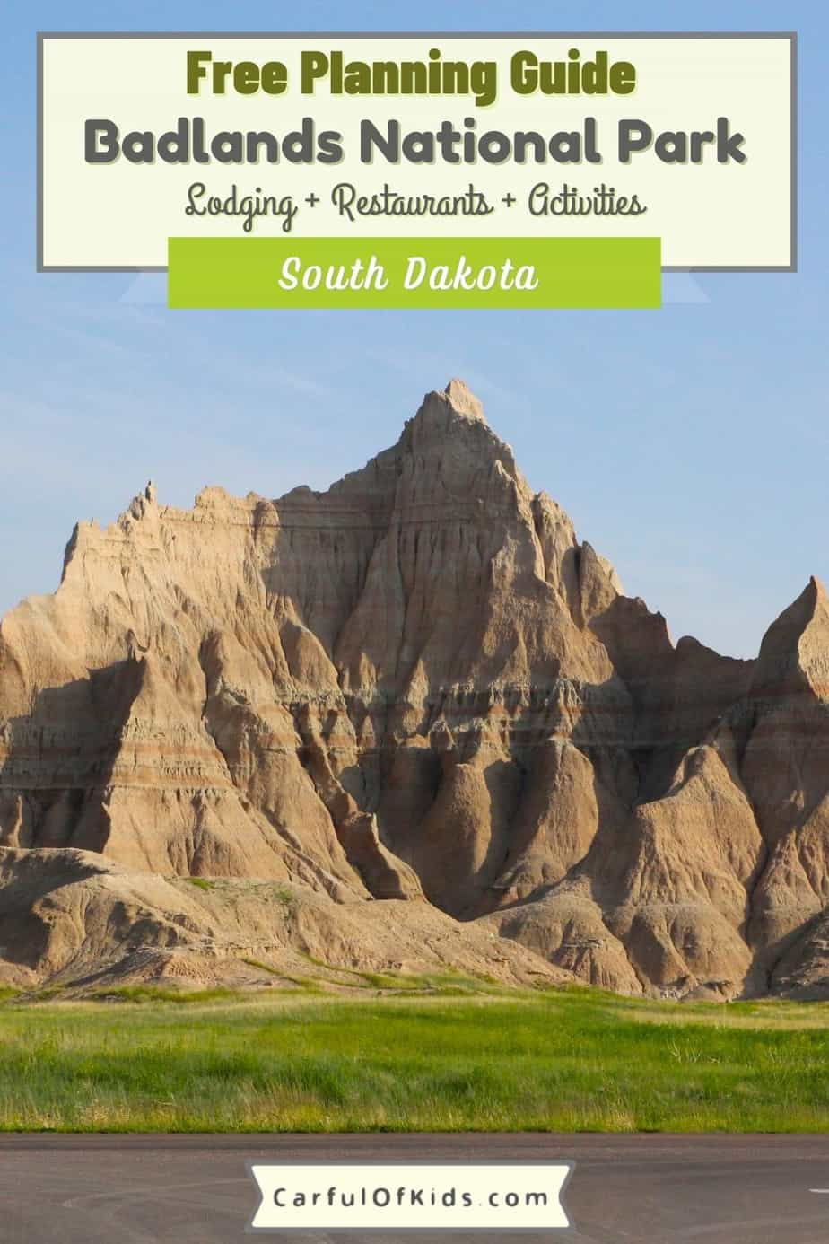Your Free Planning Guide to Exploring Badlands National Park near South Dakota's Black Hills. Spend a few hours or spend all day. Get details on where to stay, where to eat and what to do when exploring Badlands National Park. What to do in Badlands National Park | Where to stay in Badlands National Park | Where to eat in Badlands National Park | National Parks of South Dakota #NationalParks #SouthDakota