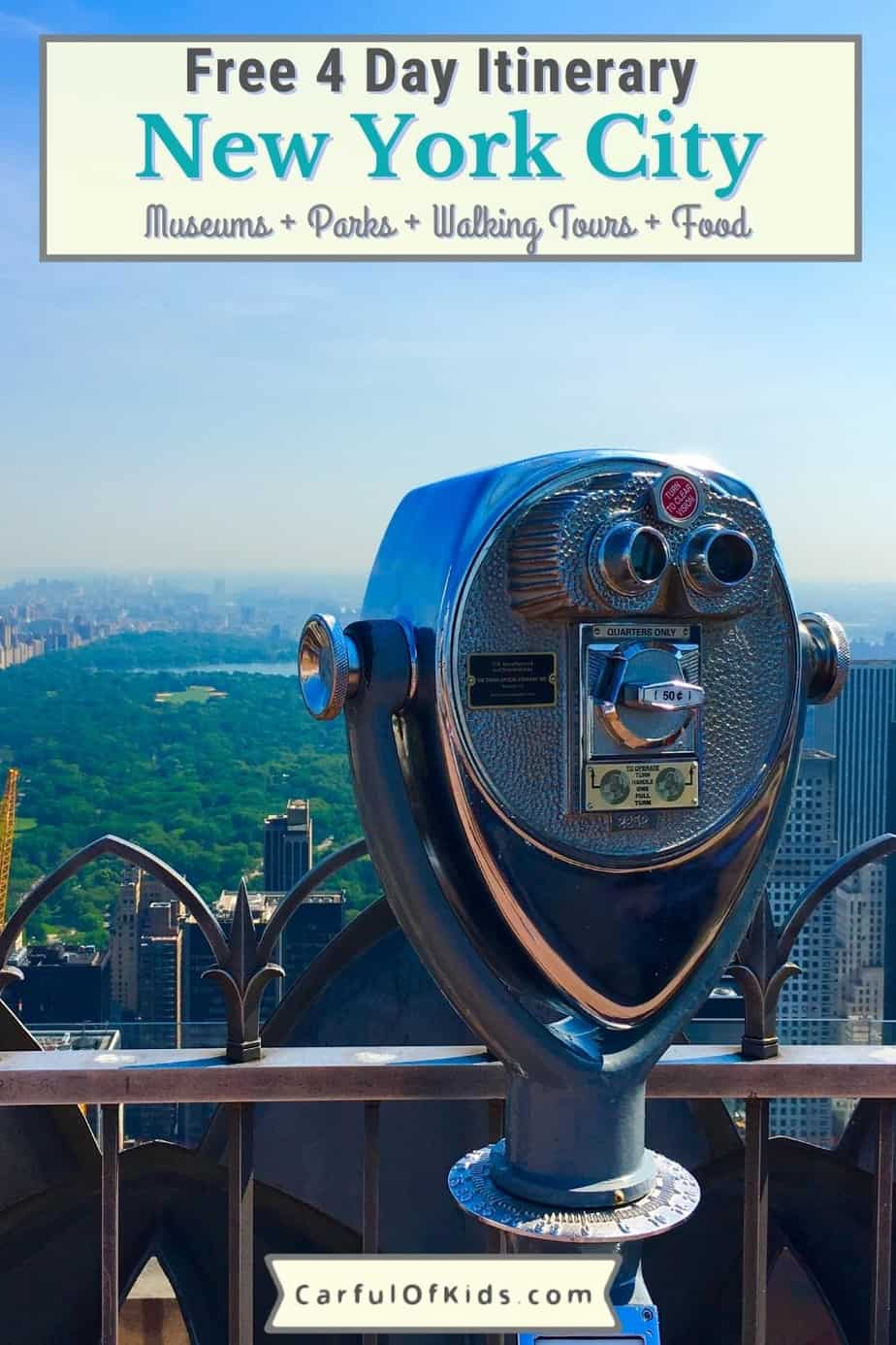 Here's your 4 Day itinerary for the Ultimate Trip to New York City in 2021. Got the must-see tours along with top museums and even some cheap eats for the kids along with walking and subway directions. What to do in New York City | Where to go in New York City | Must dos in NYC #NYC