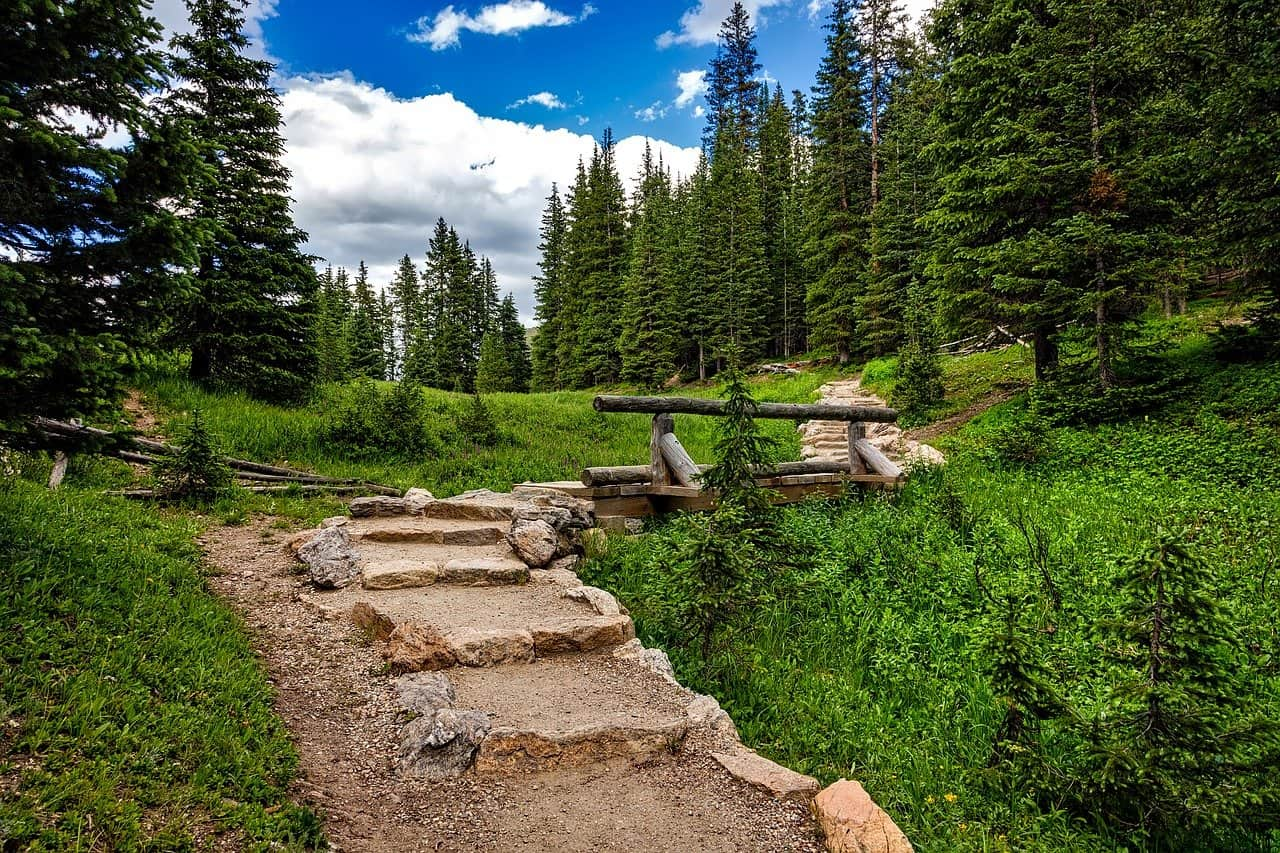 Hiking Trail Rocky Mountains