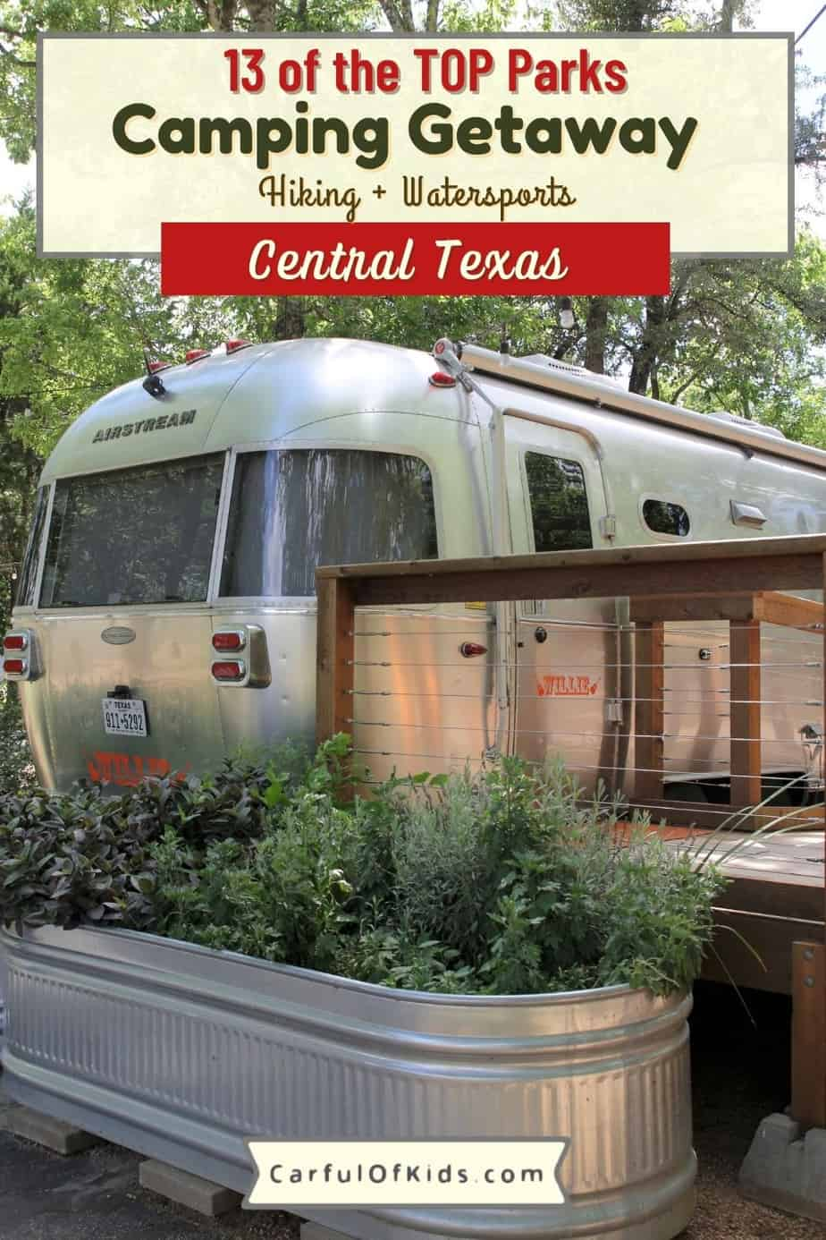 Pack up for a weekend in the woods around Central Texas. Here's 13 top parks for a camping trip or day trip. With lakes galore, you can boat, paddleboat or canoe. Find campsites, cabins and even Airstreams to rent. Heres the best Texas State Parks, LCRA parks and regional parks around Austin and in the Hill Country. Where to camp near Austin | Best State Parks in the Texas Hill Country | Cabin in the Hill Country | Airstreams in Texas to rent #camping #TexasParks
