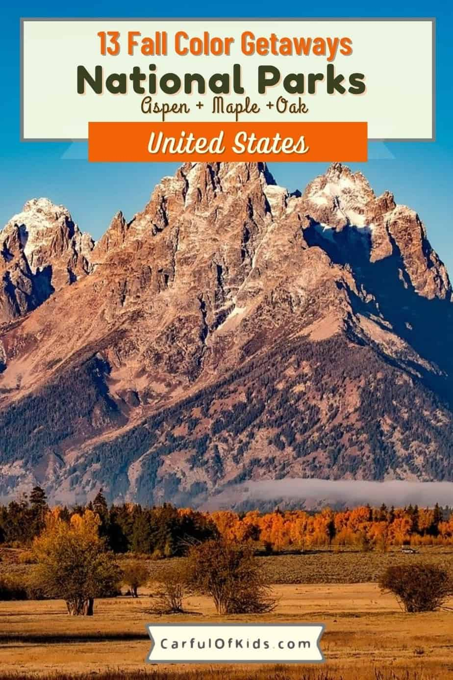 Take a Fall Color Trip to a National Park. Find U.S. National Parks from Maine's Acadia to California's Yosemite for the best fall foliage. What Parks have the best Fall Color | Where to go for a Leaf Peeping Trip | #FallColor #NationalParks
