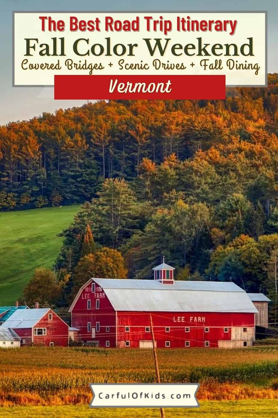 Take a Fall Color Road Trip through Vermont along the fabled Green Mountains Byway, a scenic route packed with farmstands, covered bridges, general stores and more. Find your favorite Made in Vermon products like cheese and cider and end the day at a Biergarten. Best Fall Color Road Trip through Vermont   Where to go in Vermont for a color weekend   Best scenic drives in Vermont #Vermont #LeafPeeping #FallColor